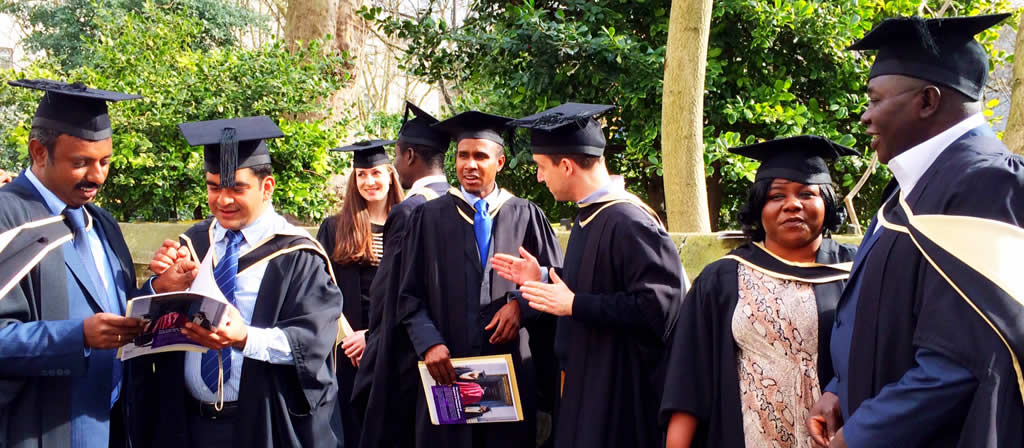 Graduation 2014 for the MSc Public health for eye care, LSHTM. Credit: Cova Bascaran/LSHTM